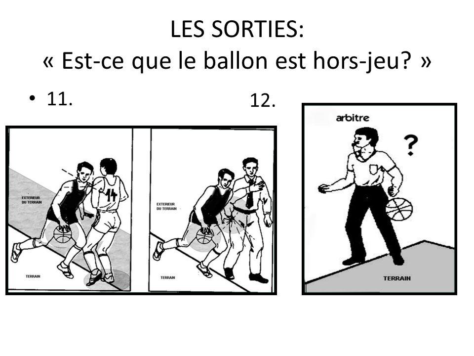 LES SORTIES: « Est-ce que le ballon est hors-jeu? » 11. 12.
