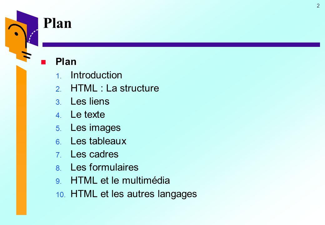23 HTML : La structure (16) Le corps du document Le corps du document Les attributs Les attributs  ATTRIBUTS DE FOND ET DE COULEUR DE TEXTE  Exemple Exemple Un titre pertinent...