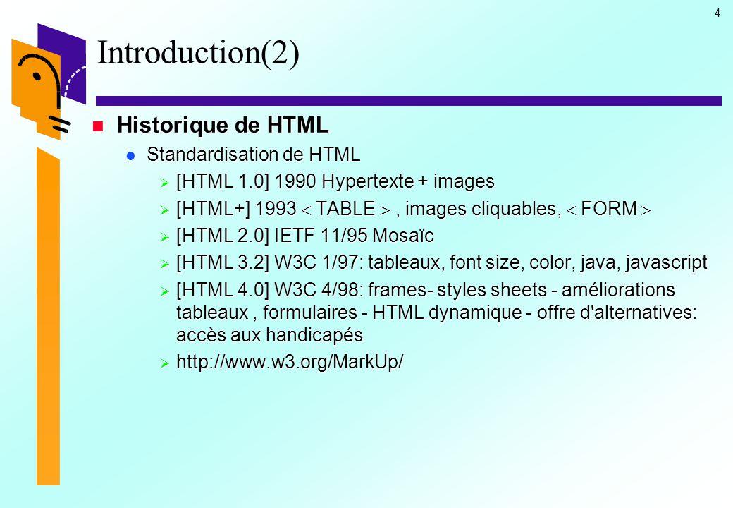 15 HTML : La structure (8) Les balises META Les balises META permet de mettre directement à la disposition des moteurs de recherche des informations relatives à un site.