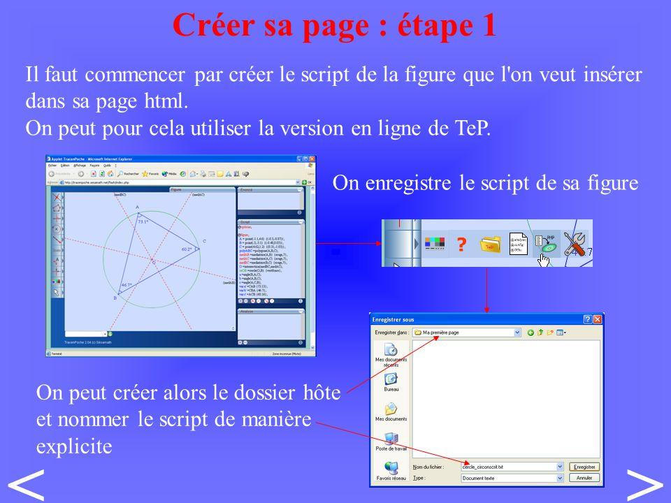 Il faut commencer par créer le script de la figure que l on veut insérer dans sa page html.