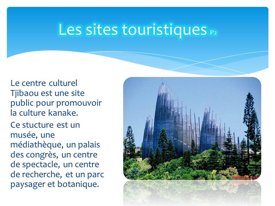 Le centre culturel Tjibaou est une site public pour promouvoir la culture kanake. Ce stucture est un musée, une médiathèque, un palais des congrès, un