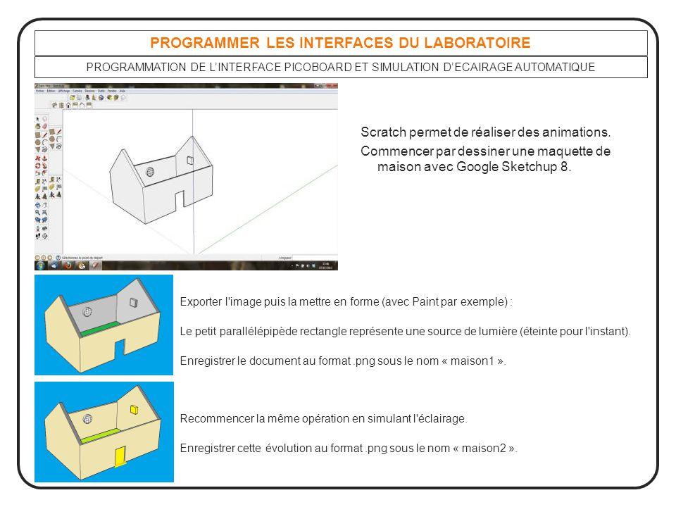 PROGRAMMER LES INTERFACES DU LABORATOIRE Exporter l'image puis la mettre en forme (avec Paint par exemple) : Le petit parallélépipède rectangle représ