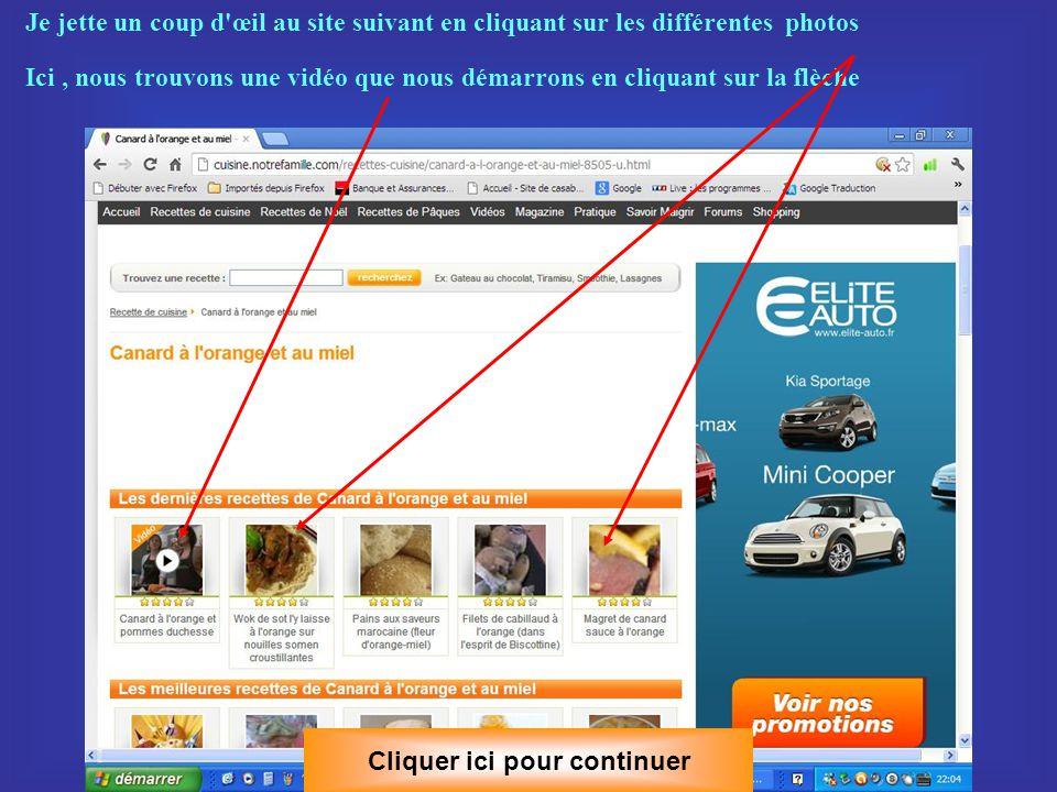 C - Mettre en favoris avec MOZILLA FIREFOX Première méthode : clic bouton droit de la souris sur la page, le menu contextuel s ouvre Cliquer ici pour continuer et clic gauche sur l option marquer cette page.
