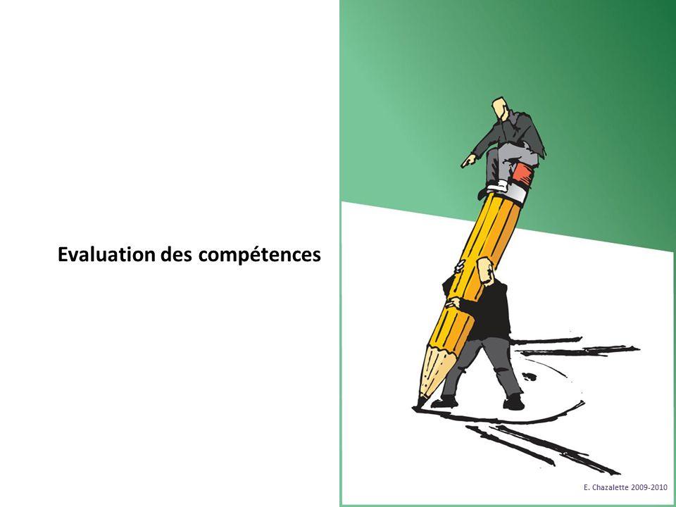 Evaluation des compétences E. Chazalette 2009-2010