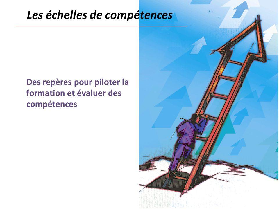 Des repères pour piloter la formation et évaluer des compétences Les échelles de compétences