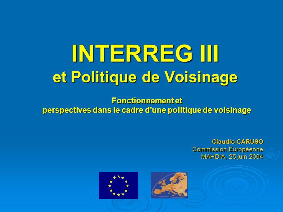 2 Programme financé dans le cadre des Fonds structurels visant à promouvoir la coopération entre régions Budget: environ 5,8 milliards € (2000-2006) INTERREG III 2000-2006