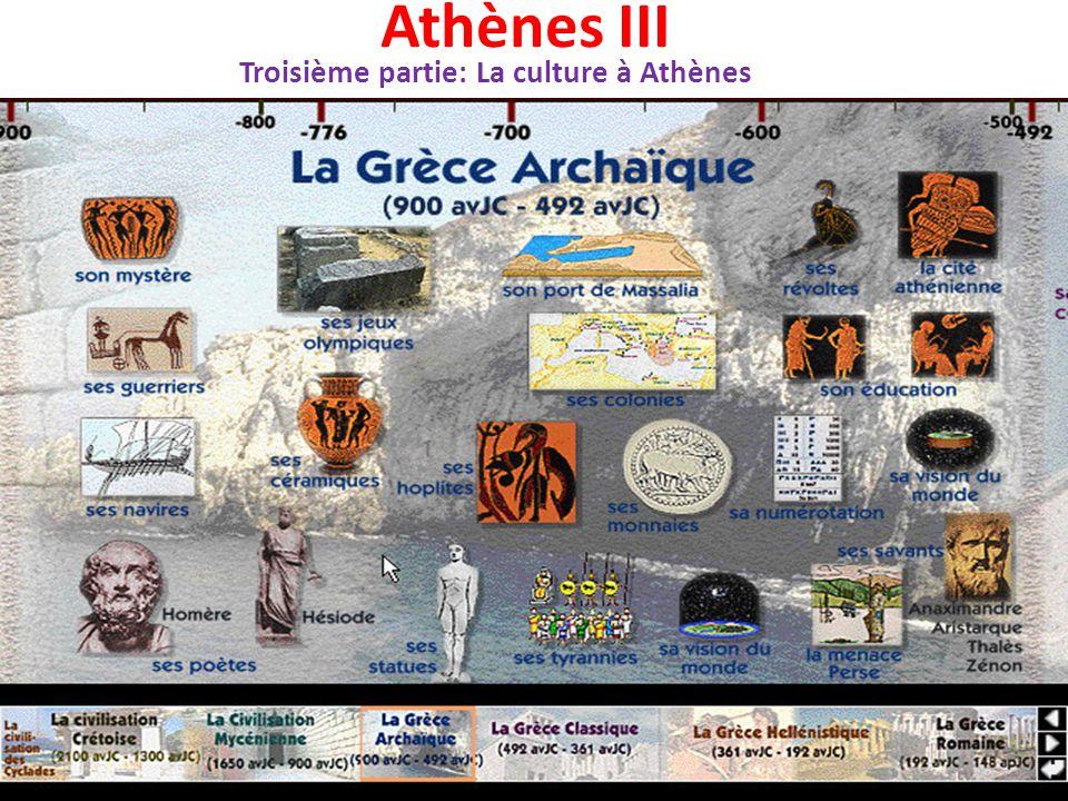 L'éducation des garçons Seuls les garçons ont accès à l'éducation à Athènes.