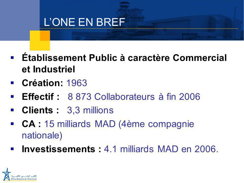 Juillet 2005  Établissement Public à caractère Commercial et Industriel  Création: 1963  Effectif : 8 873 Collaborateurs à fin 2006  Clients : 3,3