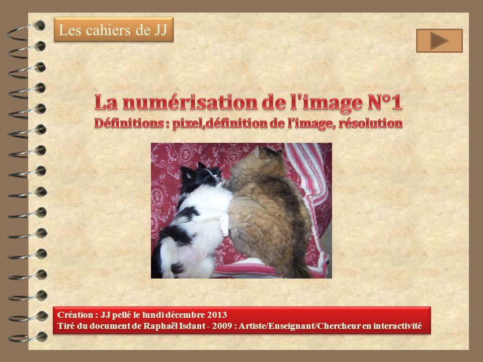 Les cahiers de JJ Création : JJ pellé le lundi décembre 2013 Tiré du document de Raphaël Isdant - 2009 : Artiste/Enseignant/Chercheur en interactivité