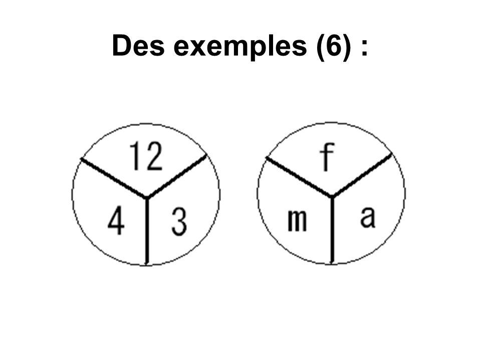 Des exemples (6) :