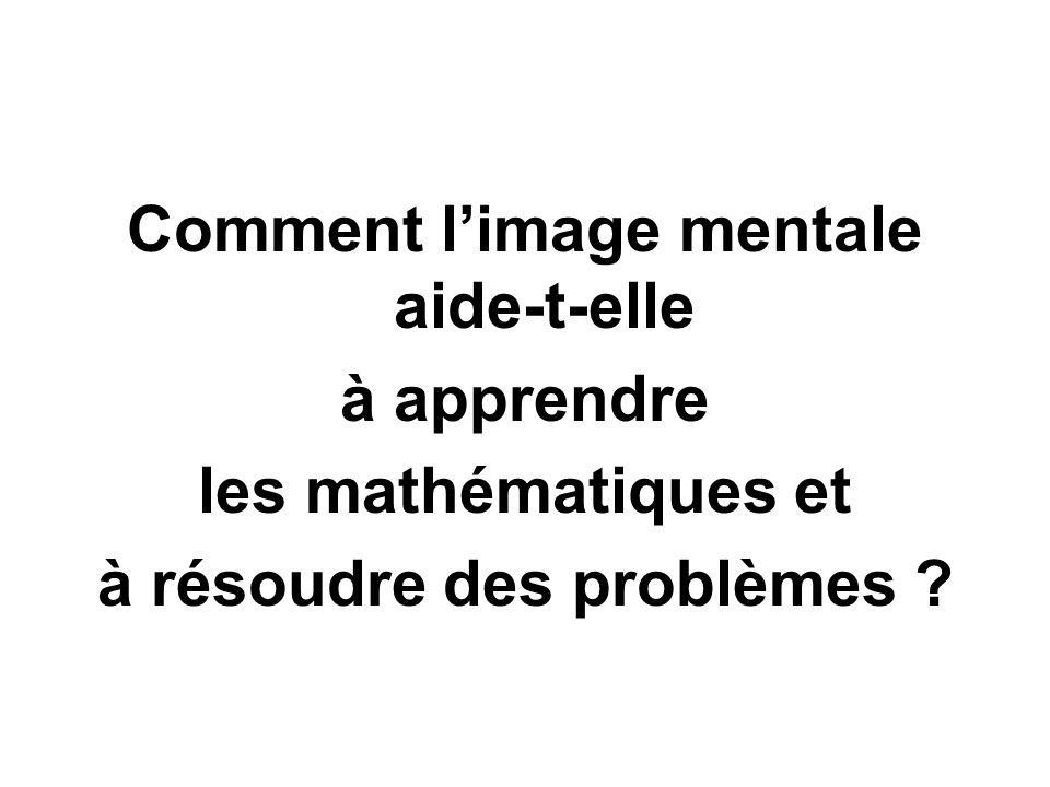 Comment l'image mentale aide-t-elle à apprendre les mathématiques et à résoudre des problèmes ?