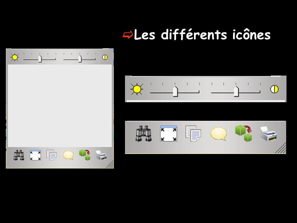 Les différents icônes