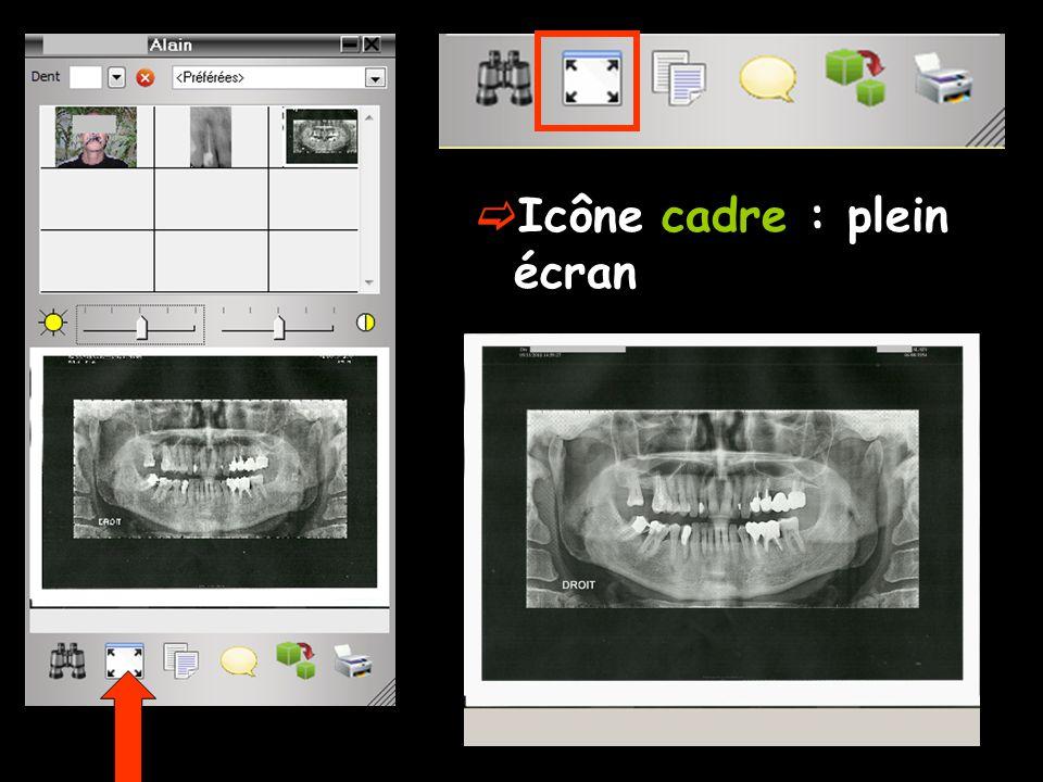  Icône cadre : plein écran