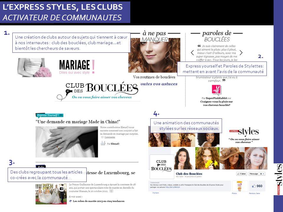 Express yourself et Paroles de Stylettes: mettent en avant l'avis de la communauté 2. 4. Des clubs regroupant tous les articles co-crées avec la commu