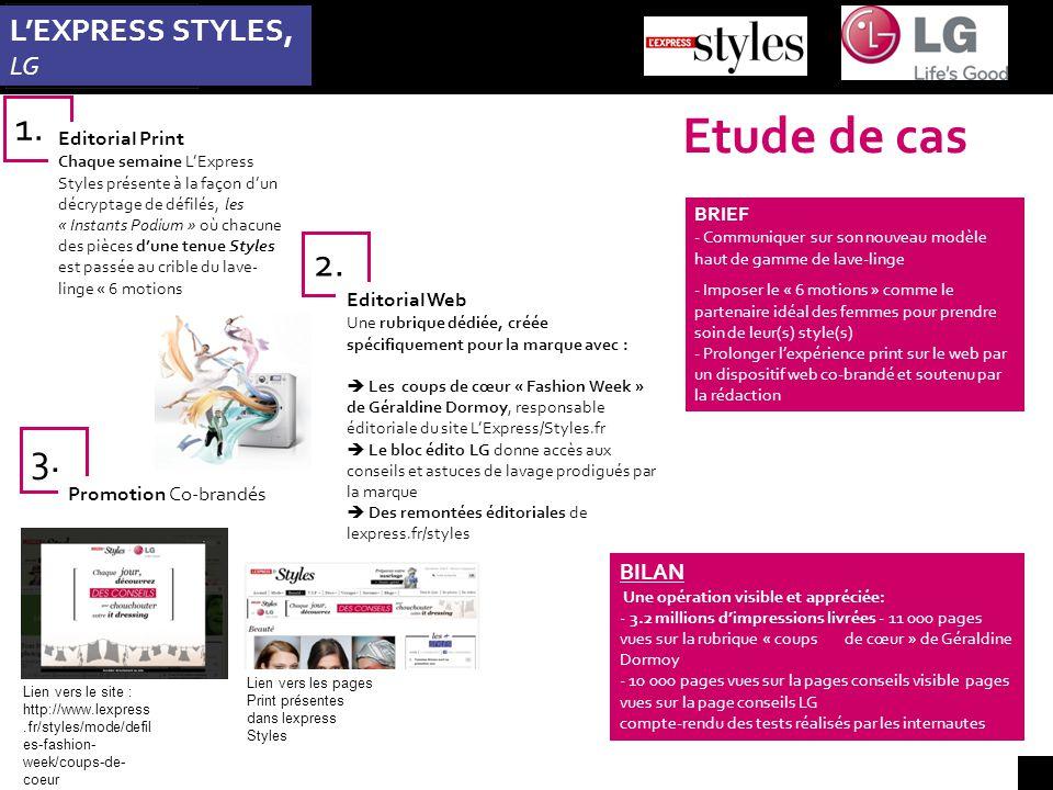 Etude de cas L'EXPRESS STYLES, LG 1. 3.