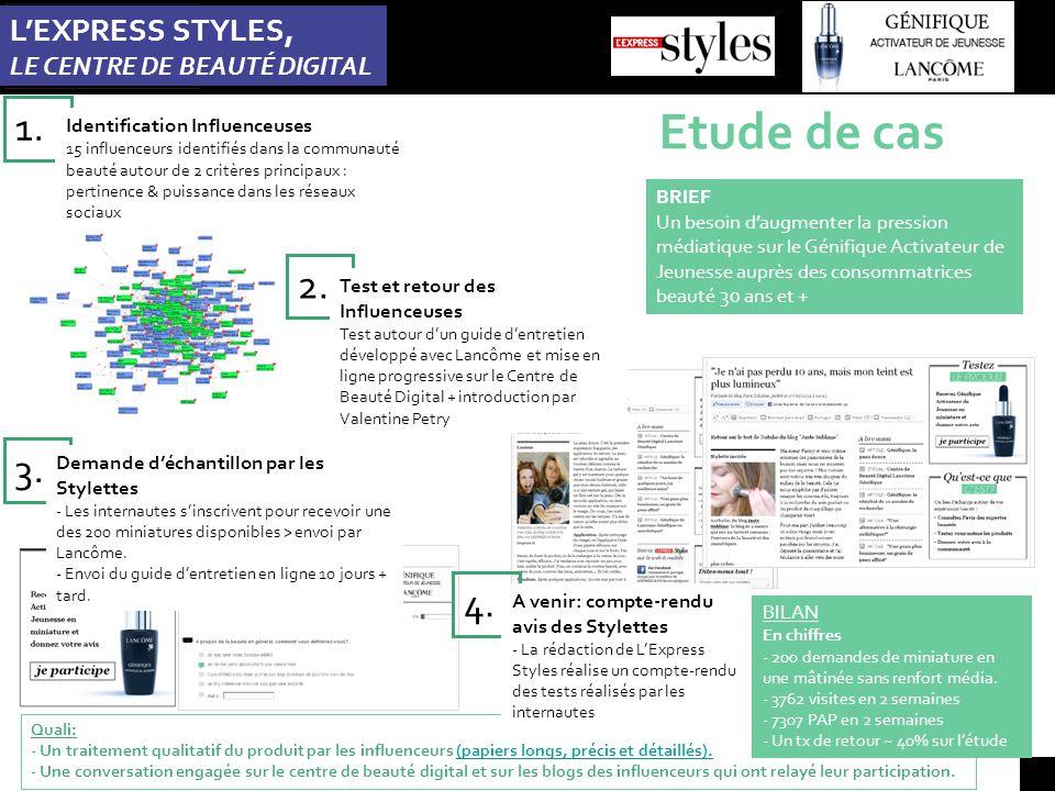 Etude de cas L'EXPRESS STYLES, LE CENTRE DE BEAUTÉ DIGITAL 1.