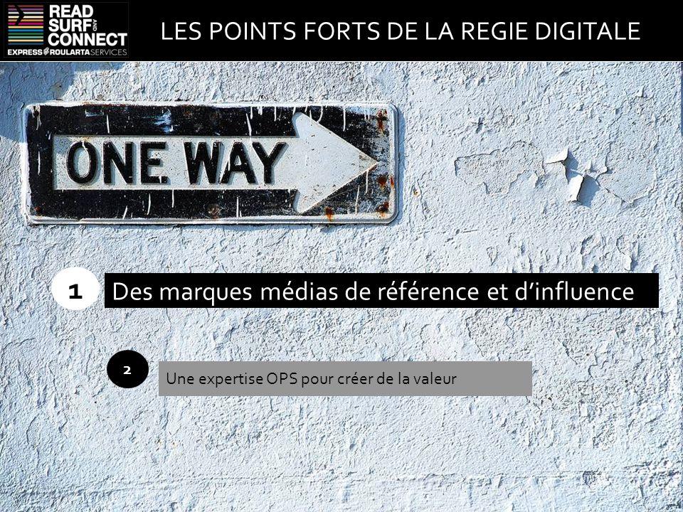 1 2 Des marques médias de référence et d'influence Une expertise OPS pour créer de la valeur LES POINTS FORTS DE LA REGIE DIGITALE