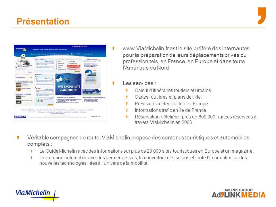 Présentation www.ViaMichelin.fr est le site préféré des internautes pour la préparation de leurs déplacements privés ou professionnels, en France, en