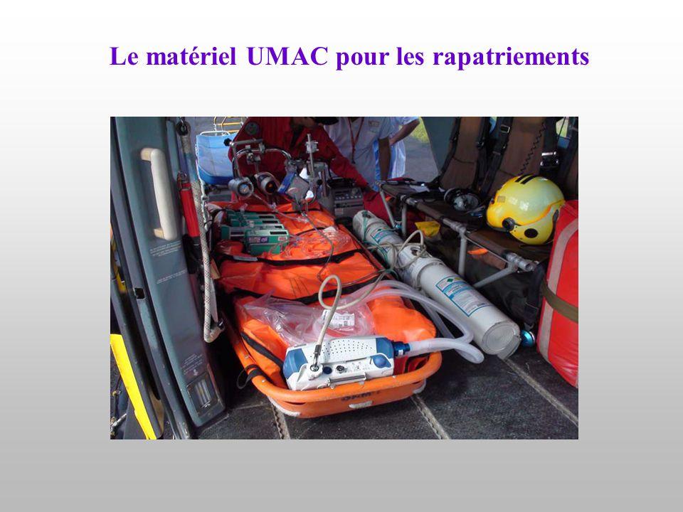 Le matériel UMAC pour les rapatriements