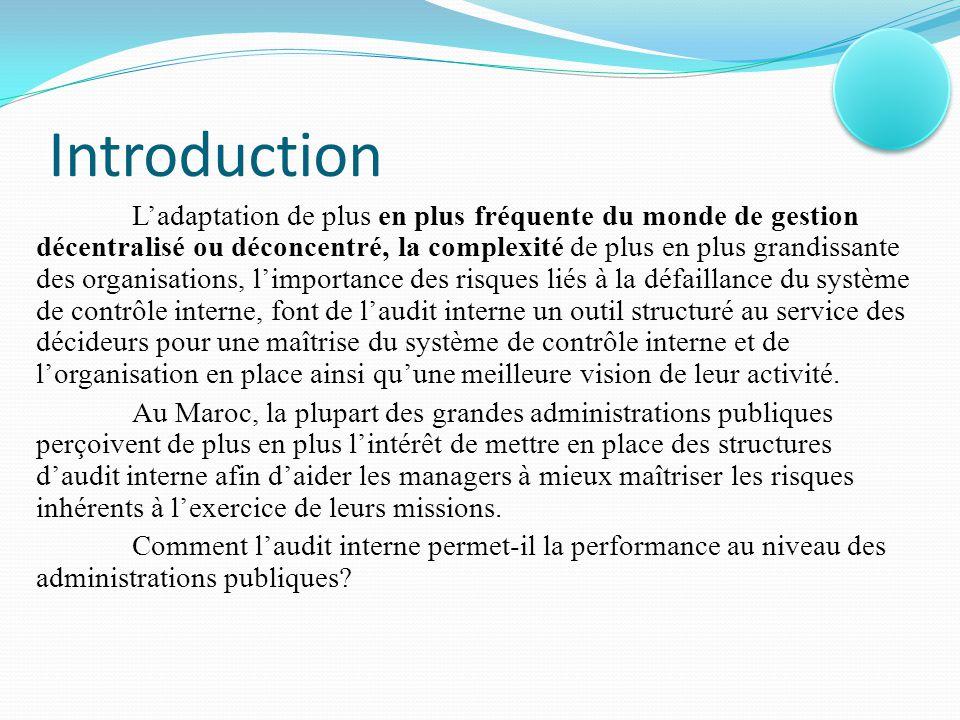 Plan Partie 1 : Définitions et concepts généraux de l'audit interne I.Définitions et objectifs de l'audit interne II.Typologie des missions et caractéristiques de la fonction d'audit interne III.Différences entre l'audit interne et le contrôle interne Partie 2 :Principes et méthodologie d'audit interne I.Règles et normes d'audit II.Planification technique et déroulement de la mission d'audit III.