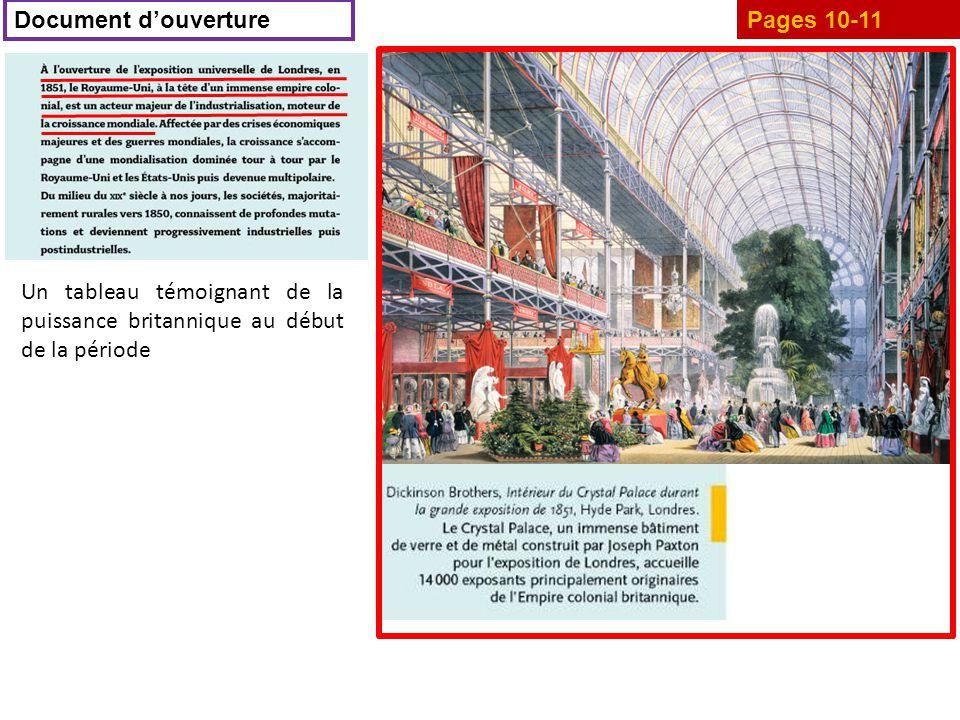 Pages 10-11 Document d'ouverture Un tableau témoignant de la puissance britannique au début de la période