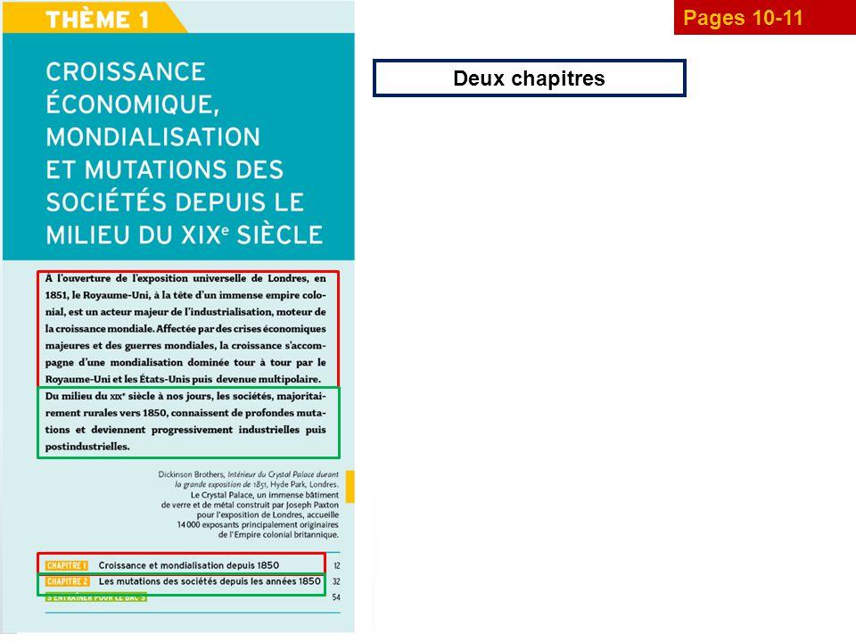 Pages 10-11 Deux chapitres