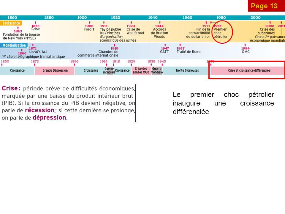 Page 13 Le premier choc pétrolier inaugure une croissance différenciée