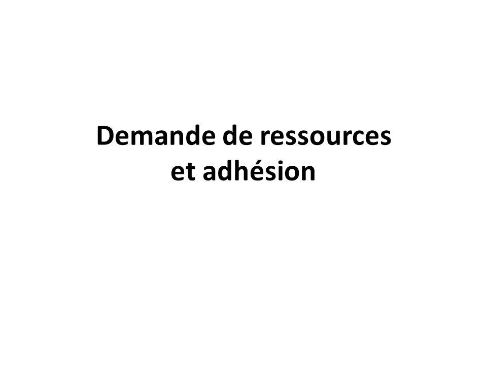 Demande de ressources et adhésion