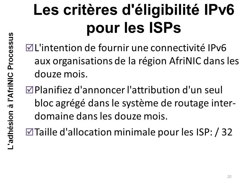  L intention de fournir une connectivité IPv6 aux organisations de la région AfriNIC dans les douze mois.