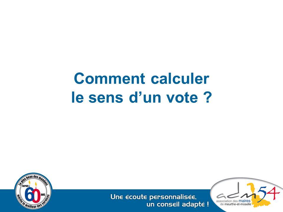 Comment calculer le sens d'un vote ?