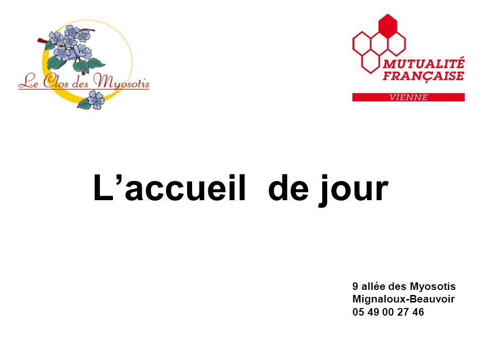 L'accueil de jour 9 allée des Myosotis Mignaloux-Beauvoir 05 49 00 27 46