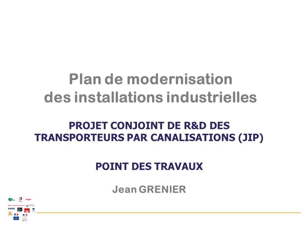 Journées GEMER - 21 mai 2014 - Tous droits de propriété réservés Projet Conjoint de R&D des transporteurs français par canalisation PROJET CONJOINT DE