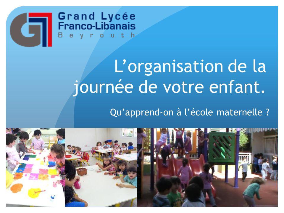 L'organisation de la journée de votre enfant. Qu'apprend-on à l'école maternelle ?