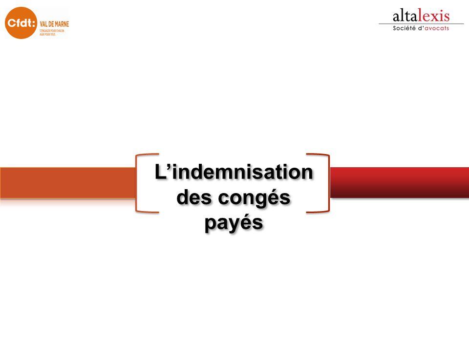 L'indemnisation des congés payés