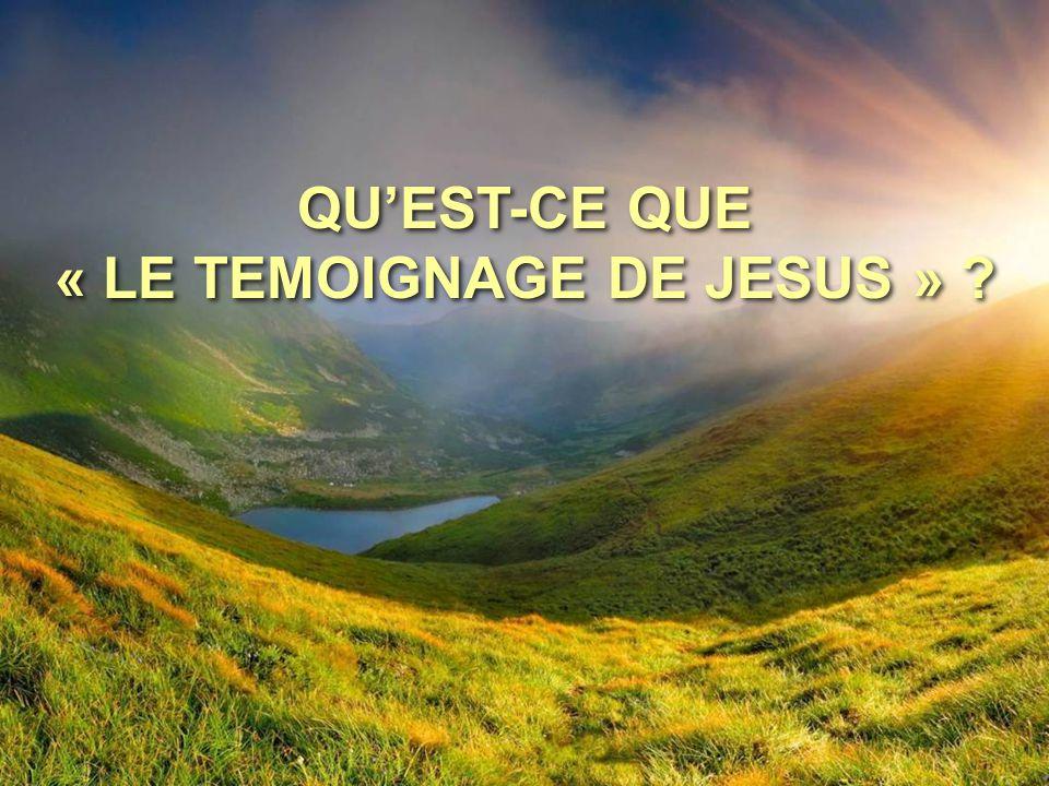 QU'EST-CE QUE « LE TEMOIGNAGE DE JESUS » ?