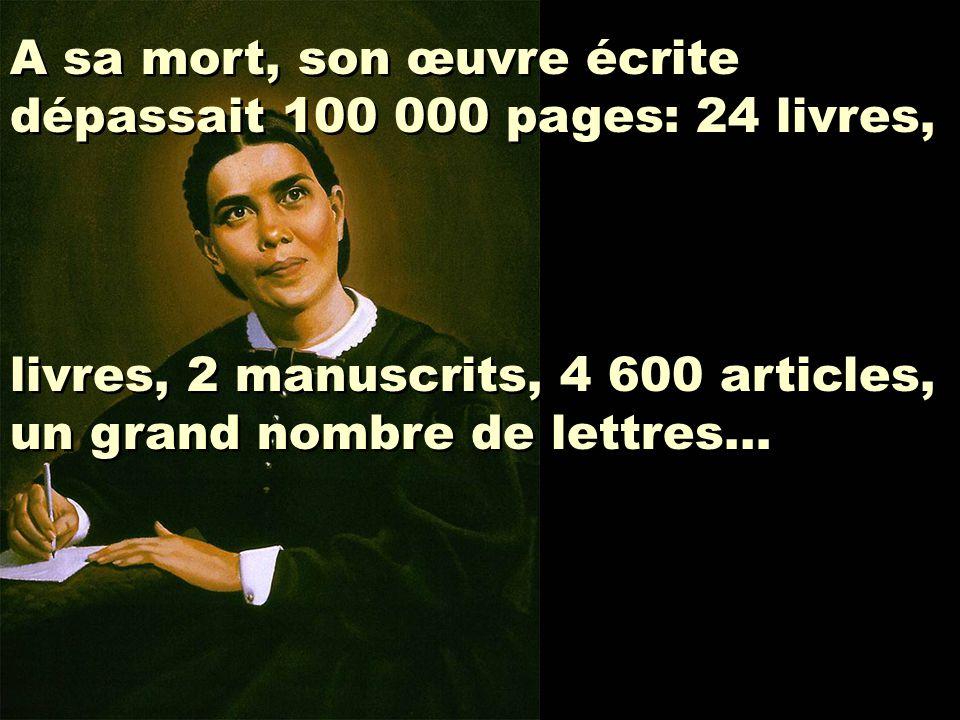 A sa mort, son œuvre écrite dépassait 100 000 pages: 24 livres, livres, 2 manuscrits, 4 600 articles, un grand nombre de lettres… A sa mort, son œuvre