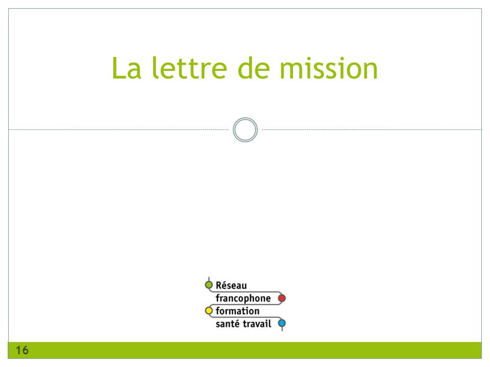 version juillet 2011 La lettre de mission 16