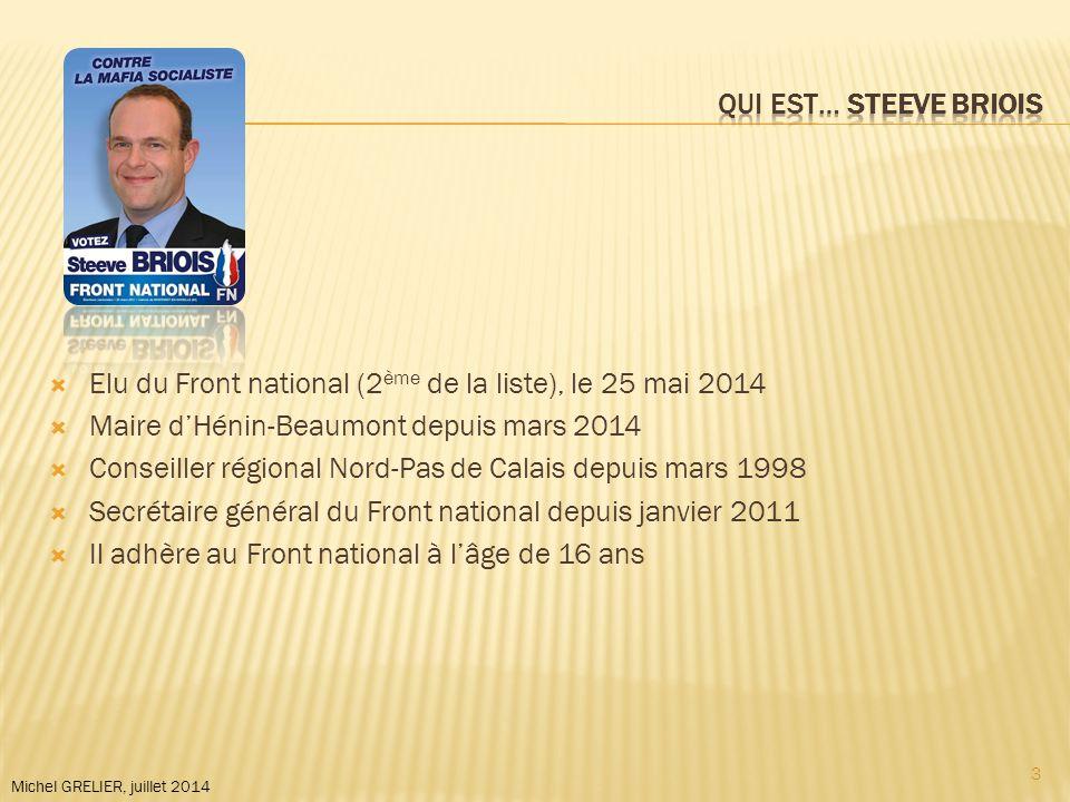 Michel GRELIER, juillet 2014  Seule élue de la liste « Europe Ecologie » (1 ère de la liste), le 25 mai 2014  Députée européenne sortante, dans la circonscription Ile-de-France  Elle adhère aux Verts en 2005 4