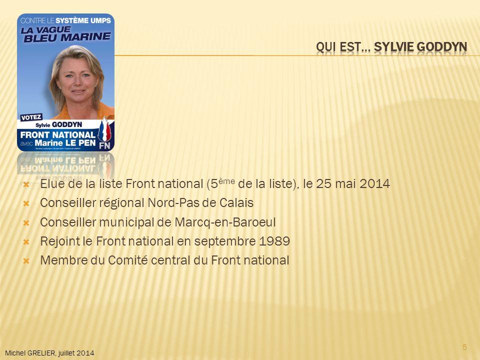 Michel GRELIER, juillet 2014  Elu de la liste UMP (1 er de la liste), le 25 mai 2014  Conseiller général de Saint-Quentin  Ancien directeur de cabinet de François COPPE à la mairie de Meaux, puis à la présidence du groupe UMP à l'Assemblée nationale, puis au secrétariat général de l'UMP  En 2012, il est le directeur-adjoint de la campagne présidentielle de Nicolas Sarkozy en charge de la logistique et des meetings 6