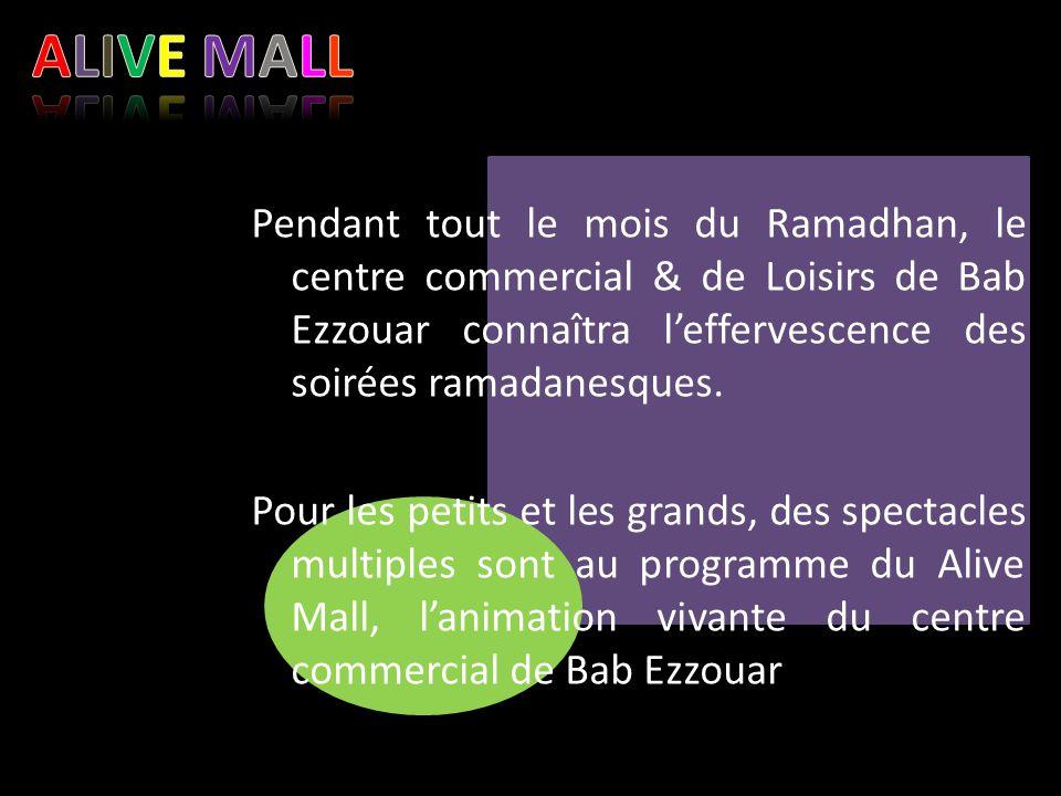 Pendant tout le mois du Ramadhan, le centre commercial & de Loisirs de Bab Ezzouar connaîtra l'effervescence des soirées ramadanesques. Pour les petit