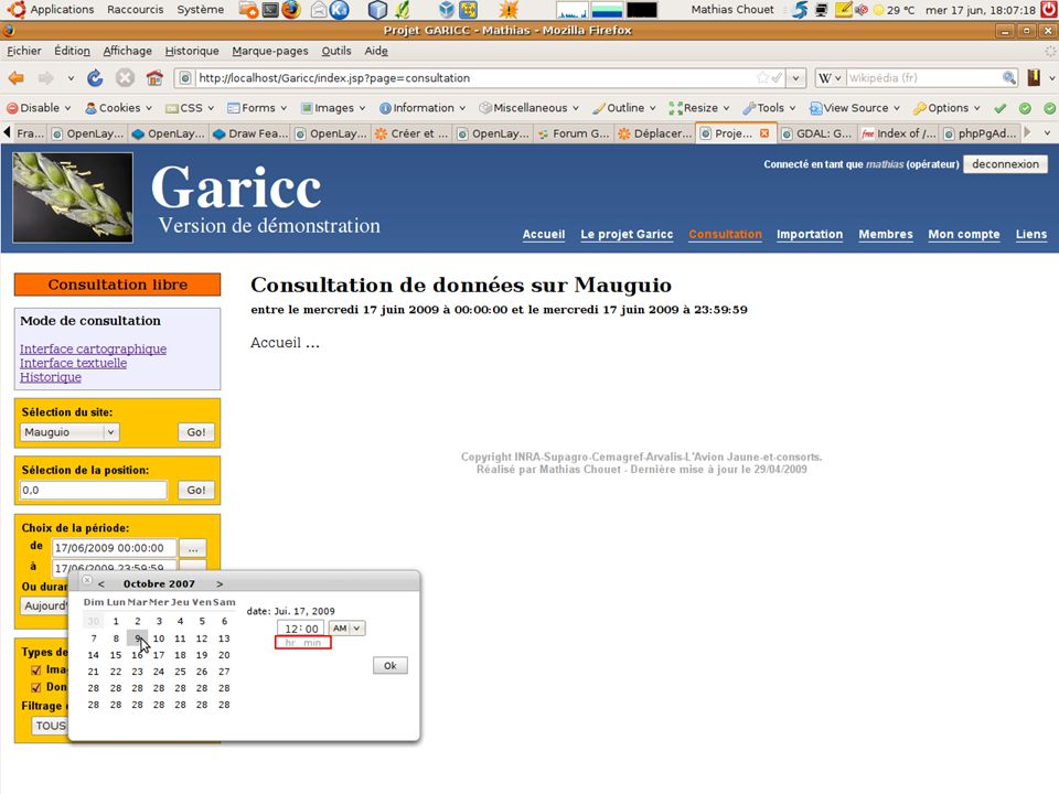18 Juin - IGECMathias Chouet (INRA Montpellier) - Garicc18