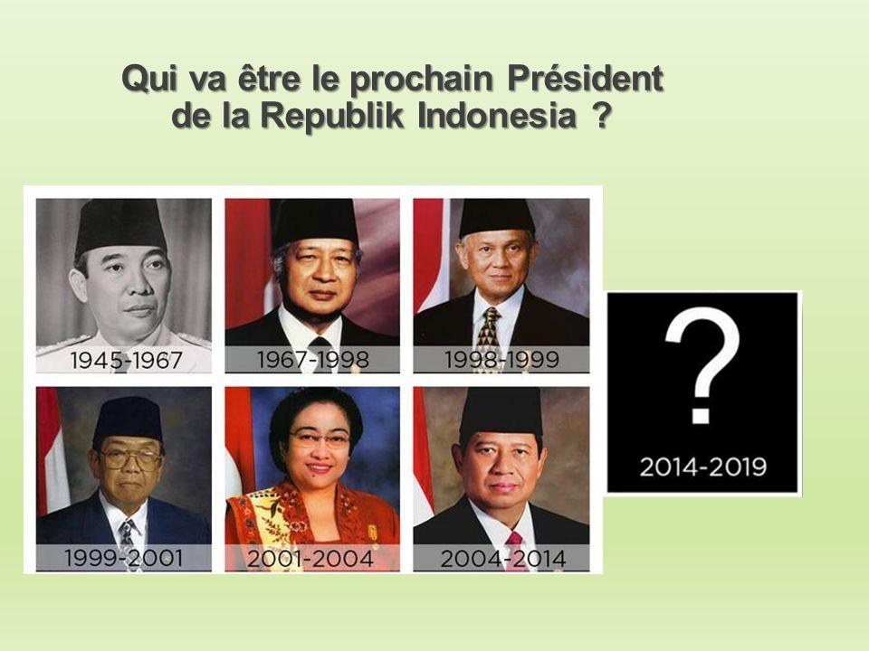 Qui va être le prochain Président de la Republik Indonesia ?