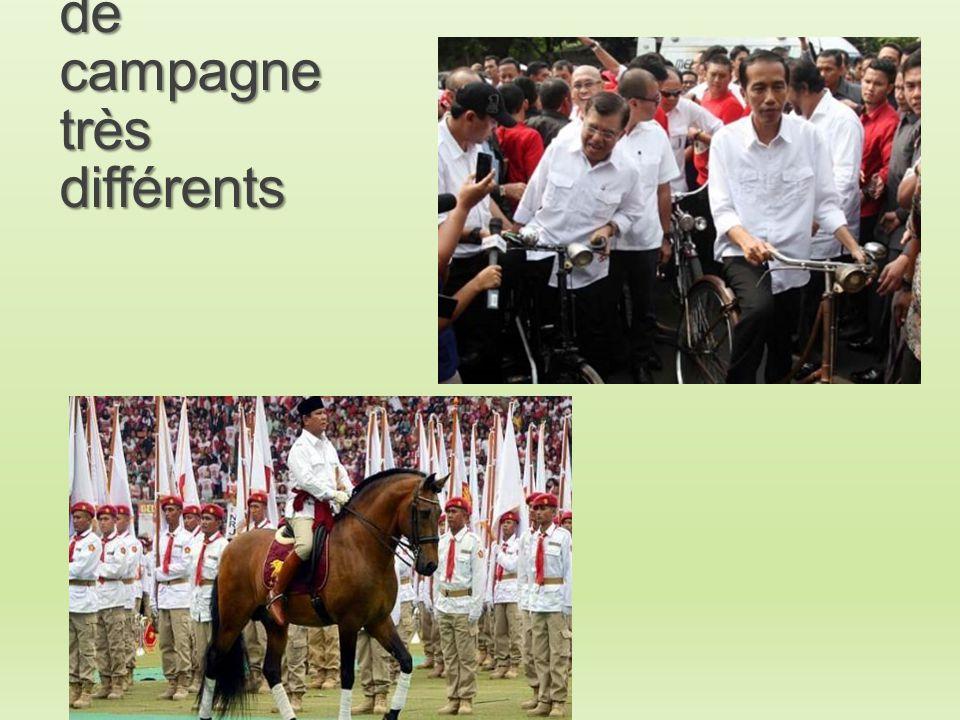 Des styles de campagne très différents