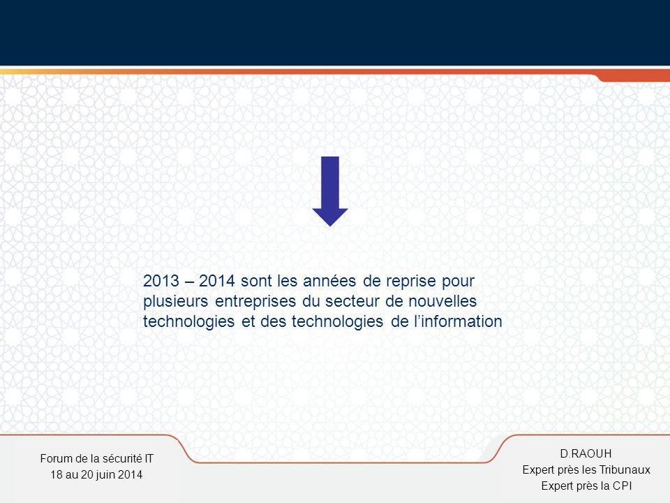 D.Raouh 2013 – 2014 sont les années de reprise pour plusieurs entreprises du secteur de nouvelles technologies et des technologies de l'information Fo