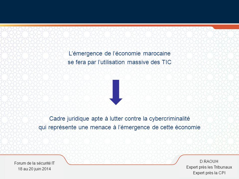 D.Raouh L'émergence de l'économie marocaine se fera par l'utilisation massive des TIC Cadre juridique apte à lutter contre la cybercriminalité qui rep