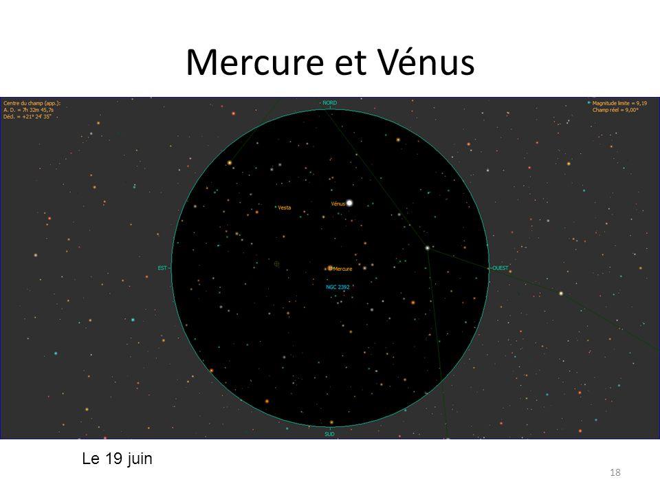 Mercure et Vénus 18 Le 19 juin
