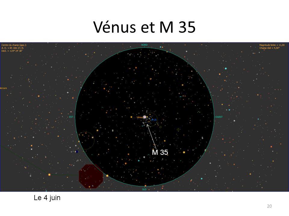 Vénus et M 35 20 Le 4 juin M 35