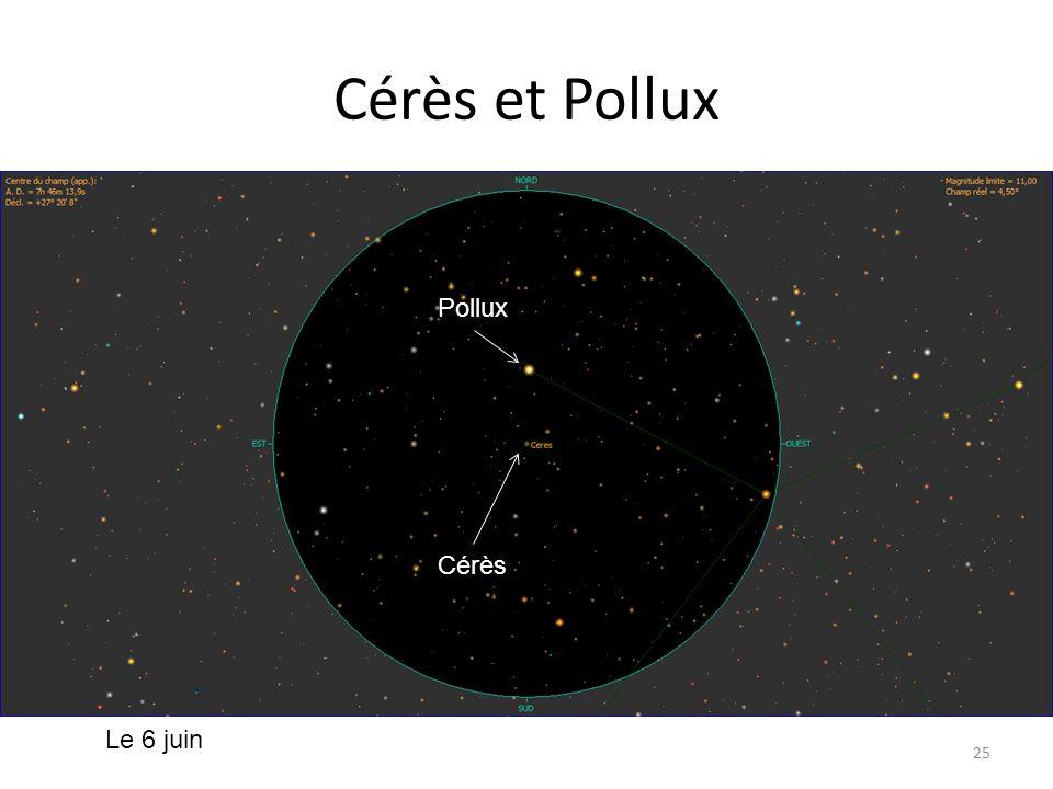 Cérès et Pollux 25 Kappa Aur Cérès Iota Gem Cérès Pollux Le 6 juin