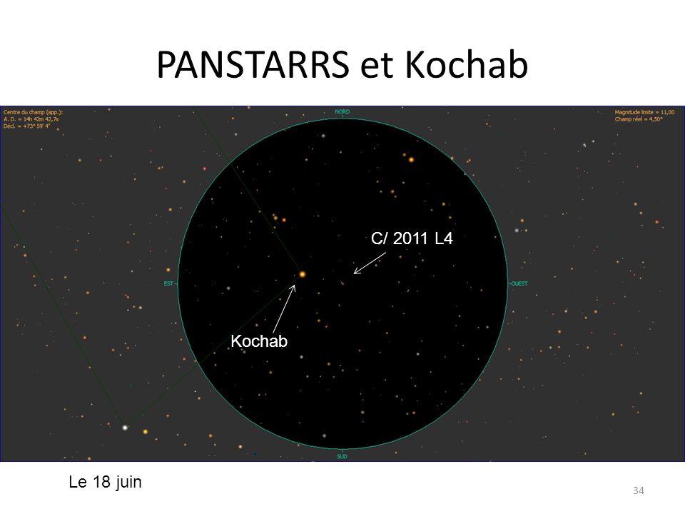 PANSTARRS et Kochab 34 PANSTARRS Errai PANSTARRS C/ 2011 L4 Kochab Le 18 juin