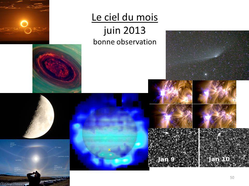 Le ciel du mois juin 2013 bonne observation 50